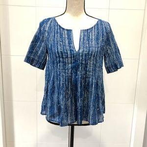 Anthropologie Maeve blue blouse